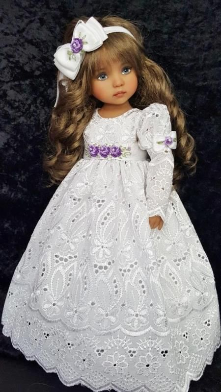"""DRESS,BONNET & SHOES SET MADE FOR EFFNER LITTLE DARLING 13"""", MY MEADOW 14""""DOLL"""