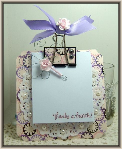 Mini Clip Board - Cute use of a decorated binder clip