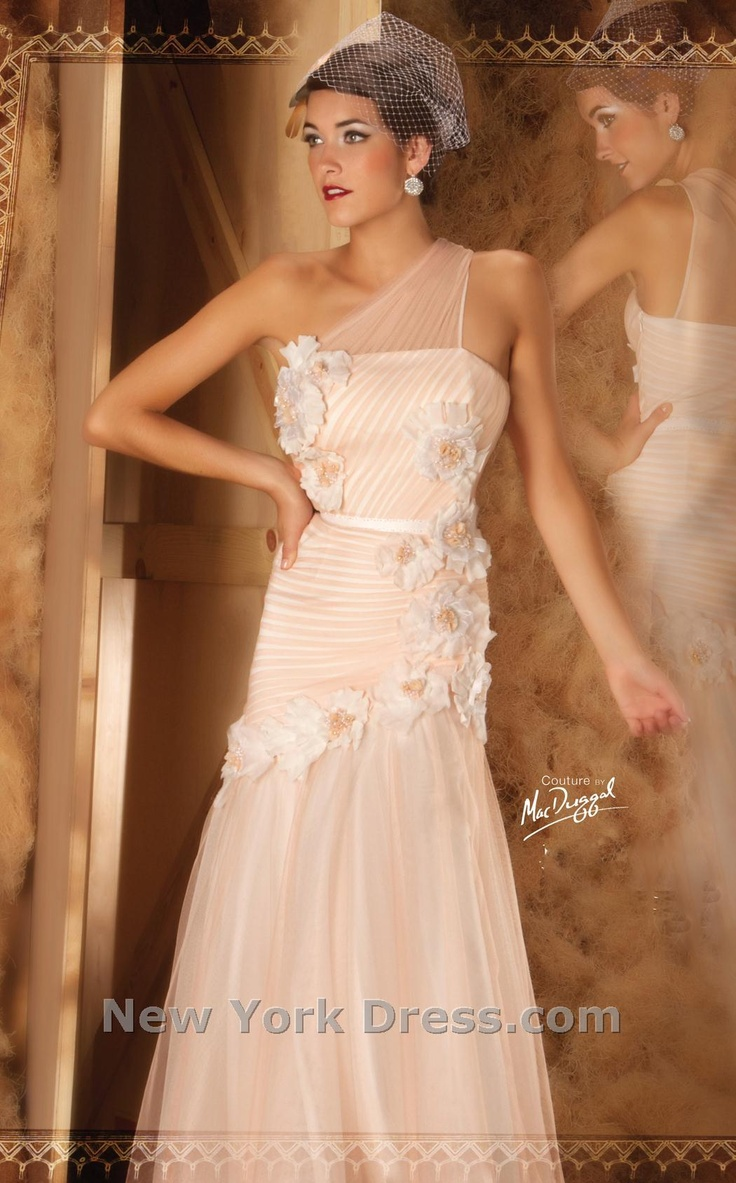 Glamorous, dreamy full-length strapless ball gown by Mac Duggal Couture