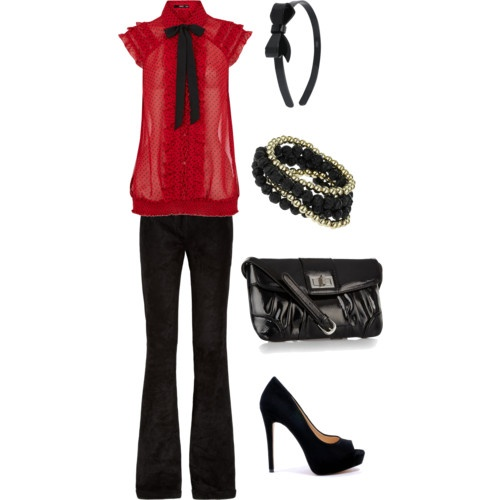 Black and red... wish I could wear this kind of stuff to work