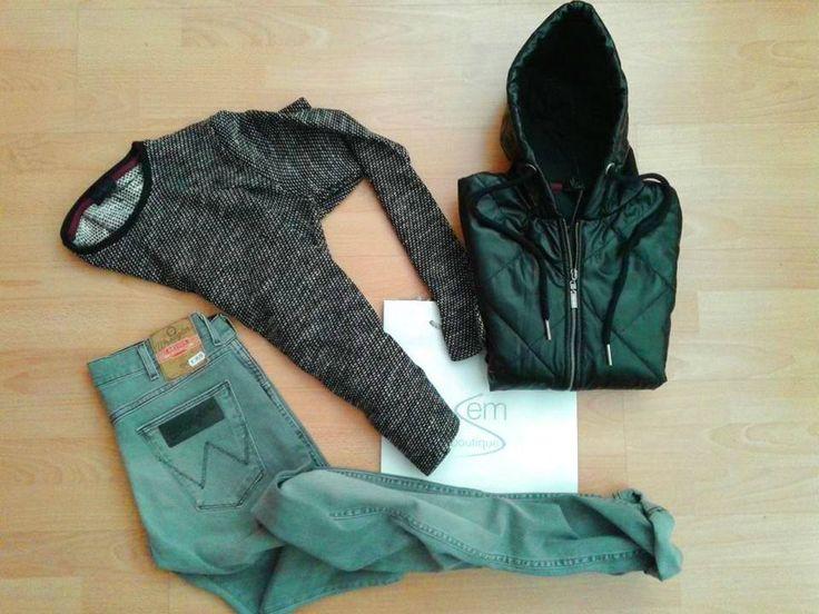 In Store: fall winter 2014.15 - Giubbino SSEINSE - Maglia SSEINSE - Jeans WRANGLER https://www.facebook.com/semboutique.it