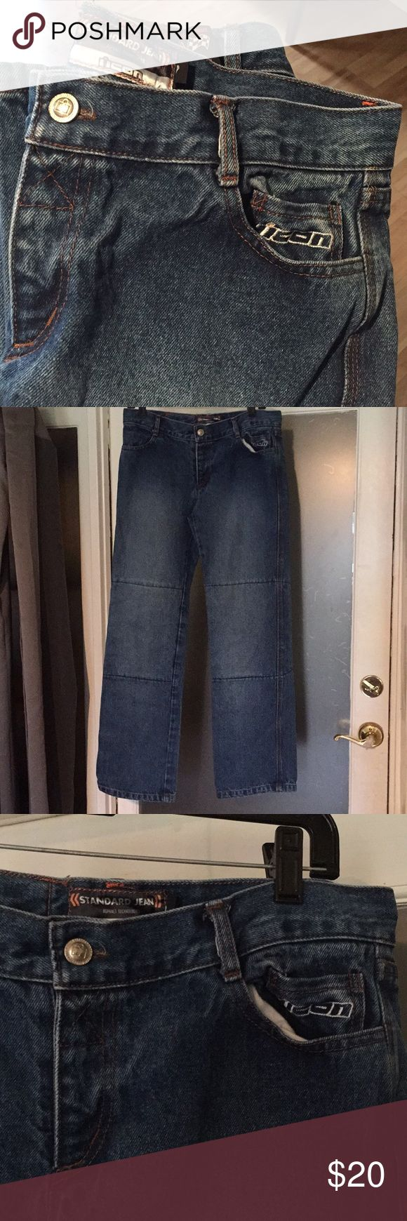 ICON MOTORSPORT Size 9 Asphalt Jeans Denim Pants Icon Motorsports size 9 standard pant 100% cotton jeans.  Excellent condition. ICON Jeans Boot Cut