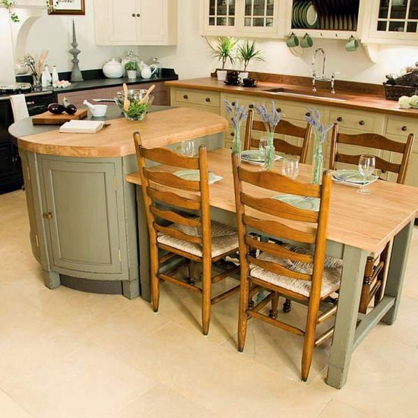 17 Best Ideas About Kitchen Island Table On Pinterest