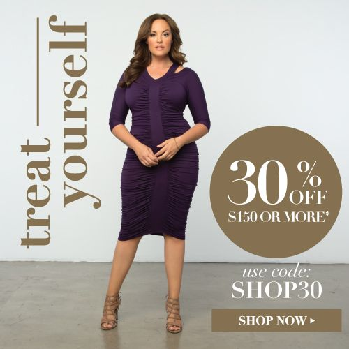 Treat Yourself Sale - kiyonna clothing fashions plus size #Plussizeclothing http://www.planetgoldilocks.com/plussize_clothing.htm Treat Yourself!  #Kiyonna #couponcode #plussizefashions #plussize #fashions #newyearsdress