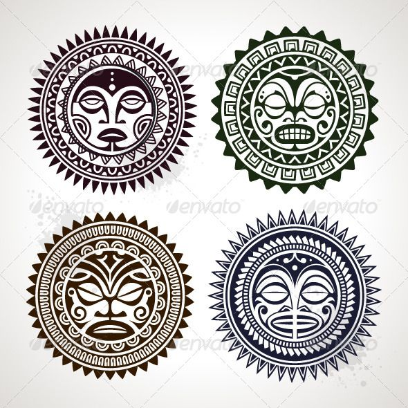 polynesian designs and patterns | ... pattern, polynesian, set, sun, swirl, symbol, tanifa, taniwha, tattoo