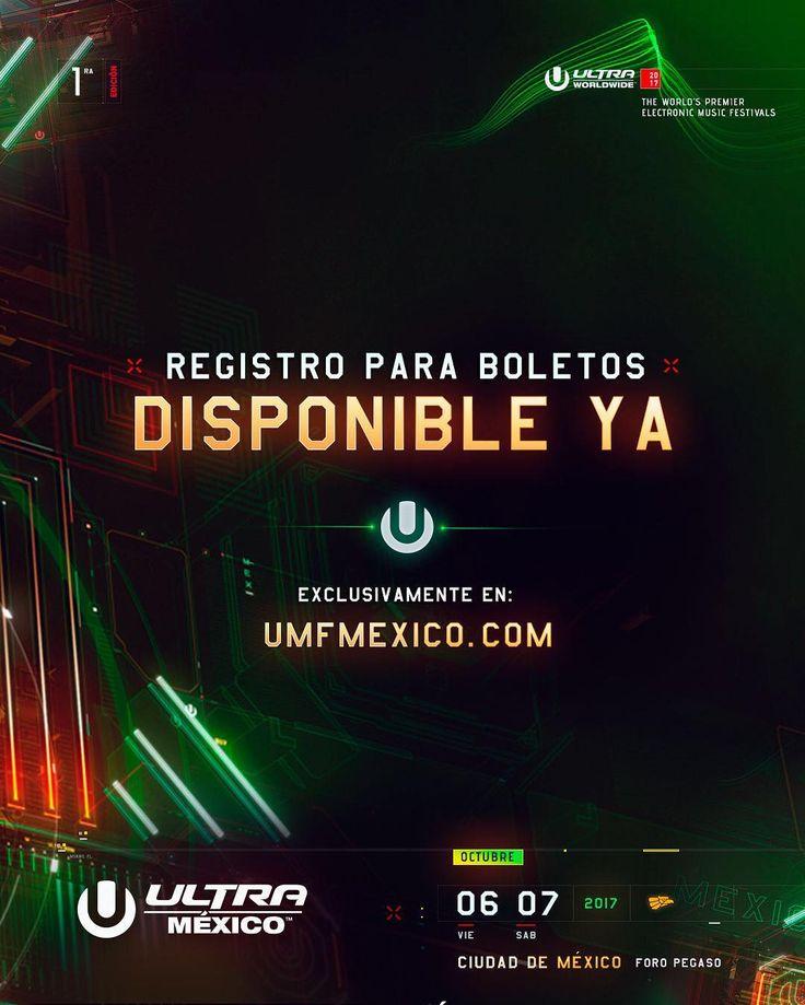 """16.9 mil Me gusta, 194 comentarios - Ultra Music Festival (@ultra) en Instagram: """"Ya está disponible el registro para boletos de Ultra México 2017! Solo aquellos que se registren…"""""""