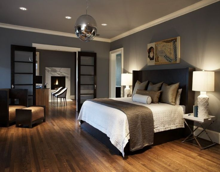 Brown Grey Bedroom Ideas | Modern bedroom colors, Brown ...