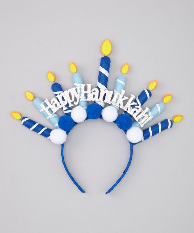 Blue Hanukkah Headband