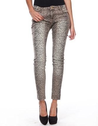 Glamorous Leopard Print Jeans