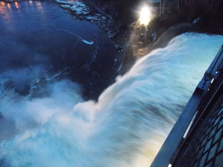 Montmorency falls as seen from the suspension bridge