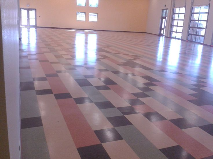 Vinyl Tile Commercial Flooring Installation By Continental Flooring Company.