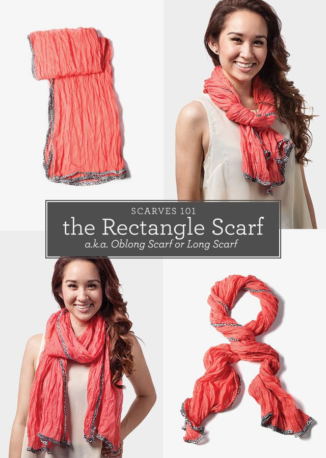 get to your scarf shapes the rectangle scarf the