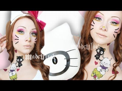 ▶ Hello Kitty Makeup Tutorial (madeyewlook/xxmakeupiscool) Collab!) - YouTube