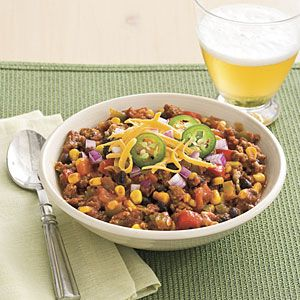 Slow-cooker Turkey Chili Recipe | MyRecipes.com