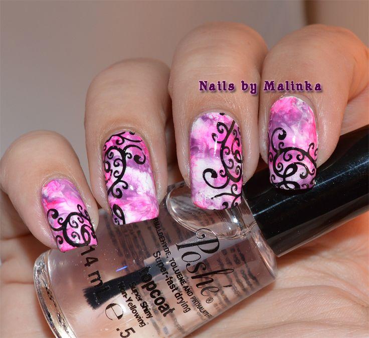 Nails by Malinka: Saran Wrap en Infinity Nails-36