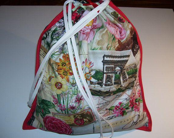 LOVELY CARRYING BAG  floral paris city pattern design  no.1