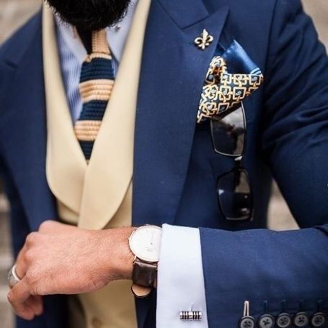 Your thoughts on this cream & navy combo?  #menswear #men #suits #styleinspiration #dapper #mensstyle #formal #chivalrymenswear #gentlemen #mensfashion #fashionable