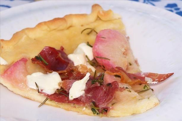 Peach, Prosciutto and Goat Cheese Summer Pizza | Recipe