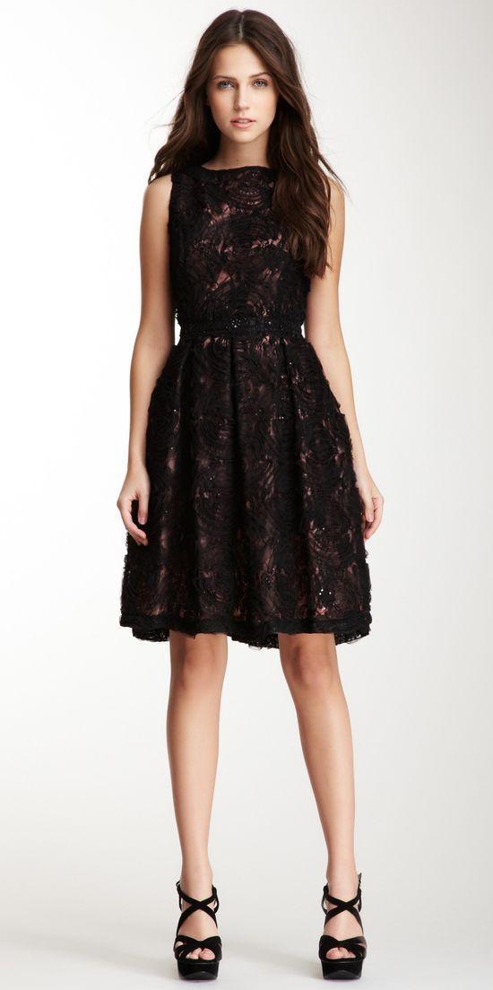 Isaac Mizrahi Sleeveless Novelty Lace Dress
