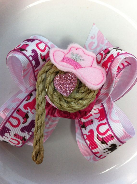 Horse Lovers Lasso Cowgirl Hair Bow Cute hair bow by UniquelyBella, $10.00