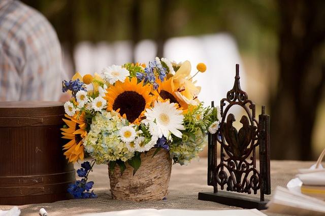 Sunflower centerpiece centerpieces pinterest