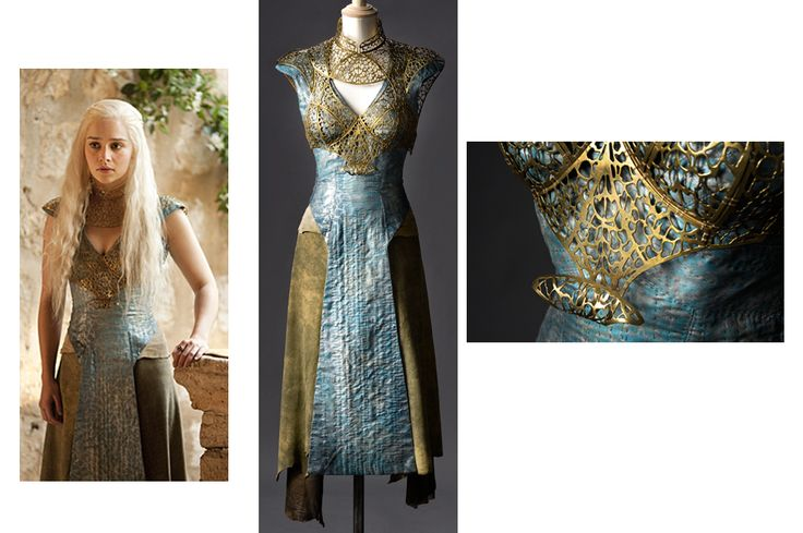 Khaleesi's costume from the Costume Designer Michele Clapton for Game of Thrones