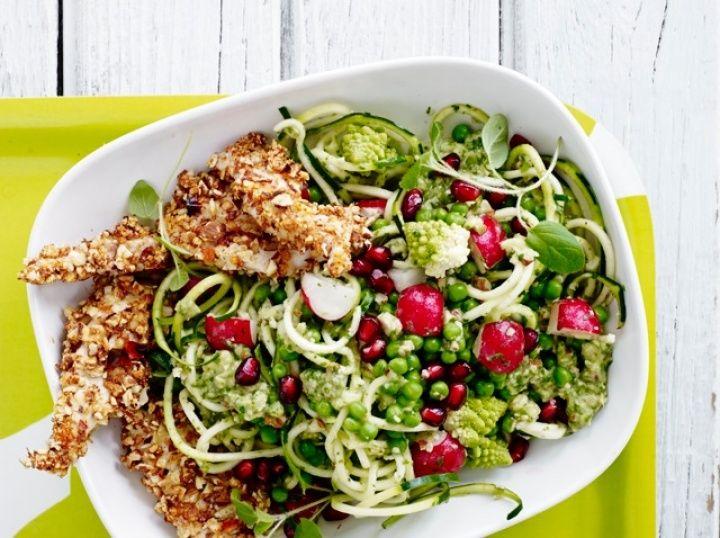 Grøntsagspasta med spicy chicken | MichelleKristensen.dk