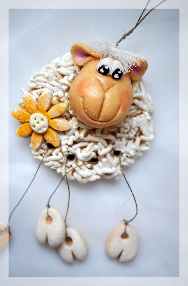 Salt Dough Easter Sheep by Anna Palka – #Anna #dou…