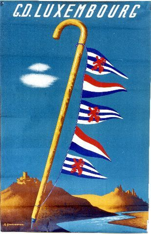 Gerson - G. D. Luxembourg - circa 1950 Luxembourg vintage poster