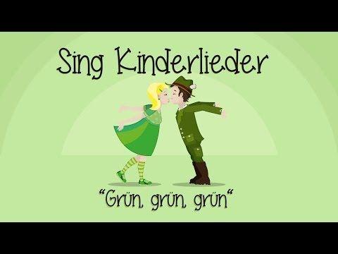 Grün, grün, grün sind alle meine Kleider - Kinderlieder zum Mitsingen | Sing Kinderlieder - YouTube