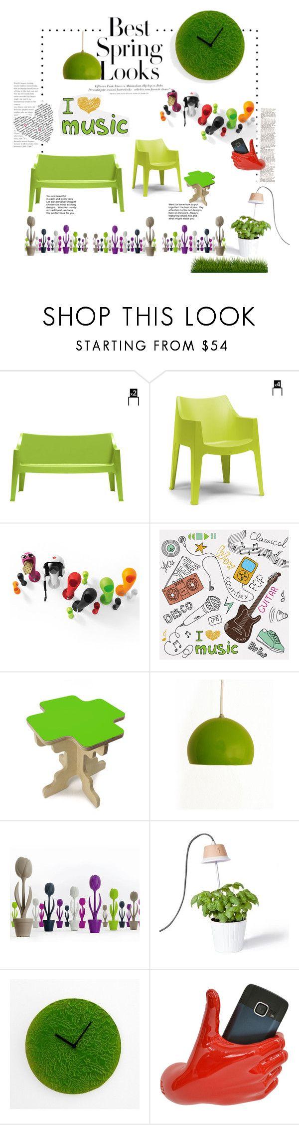 """Home Spring Look"" by viadurini ❤ liked on Polyvore featuring interior, interiors, interior design, home, home decor, interior decorating, MyYour, H&M and BRIO"