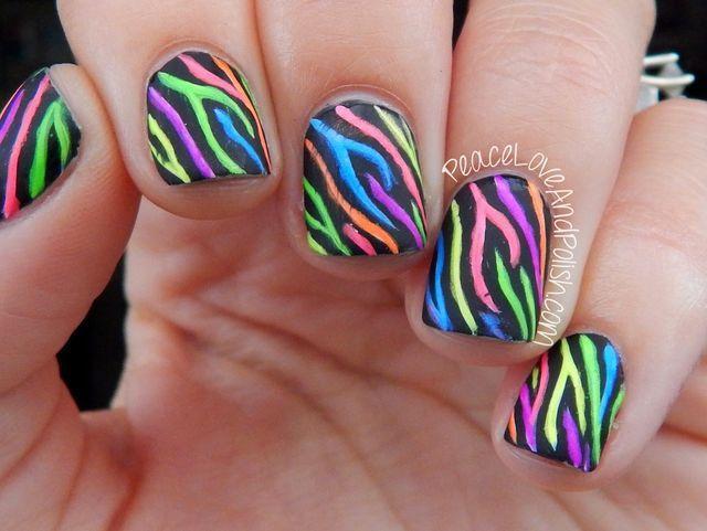 25 beautiful zebra print nails ideas on pinterest zebra nail neon zebra print nails peace love polish prinsesfo Choice Image
