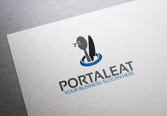 Portal Eat Logo by Zaujah on @creativemarket