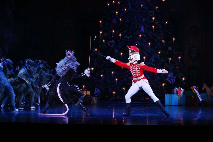 Company Dancers Emilio Pavan and Alexander Idaszak in Ben Stevenson's The Nutcracker  Photographer David Kelly