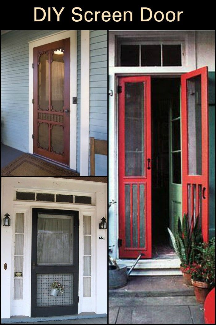 Handmade Screen Door Screen Door Diy Screen Door Wooden Screen