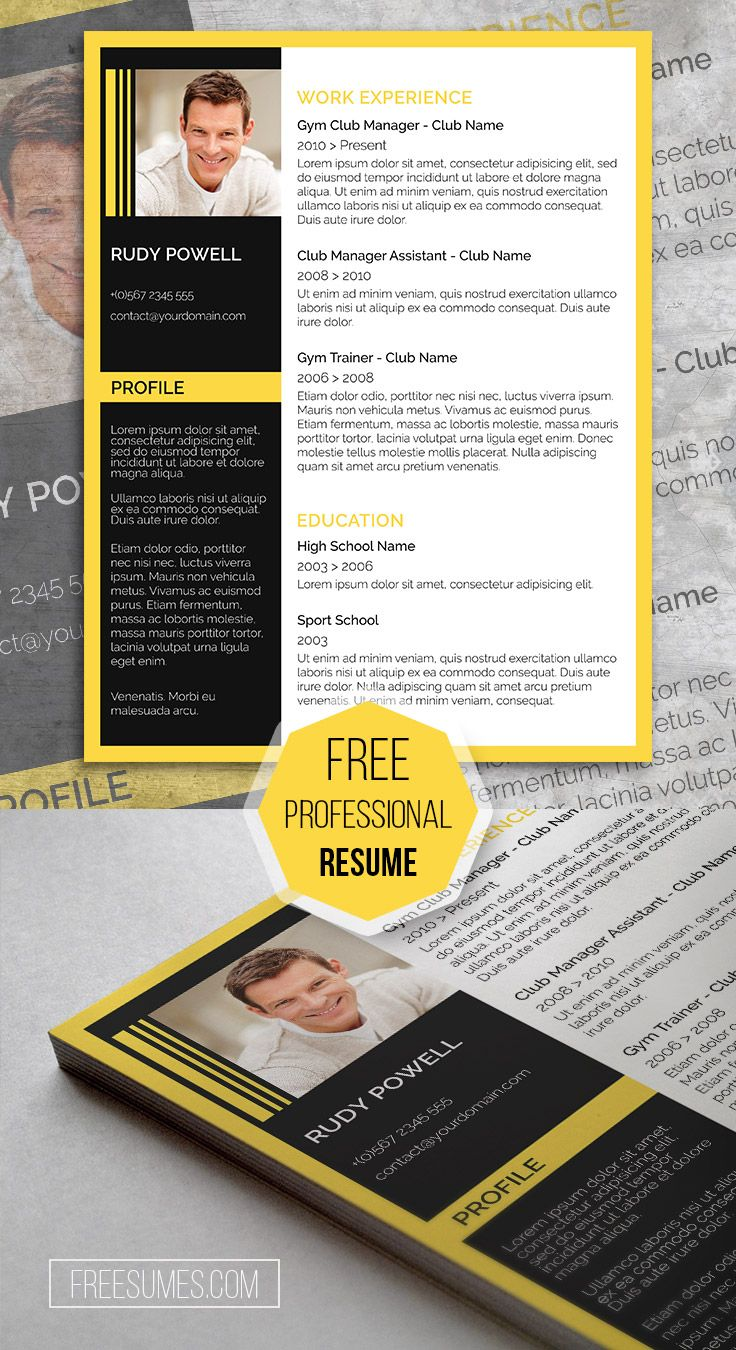 Resume Template Word 2010 Free%0A Yellow Black Finish  u     A Free Resume Template MustHave For Applicants