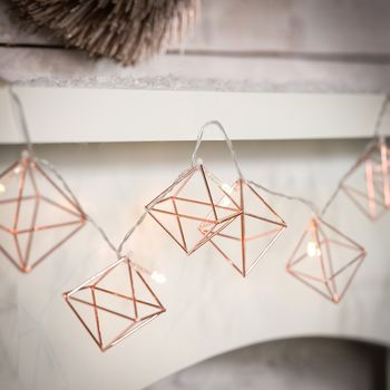 Copper Geometric Fairy Lights                                                                                                                                                                                 More