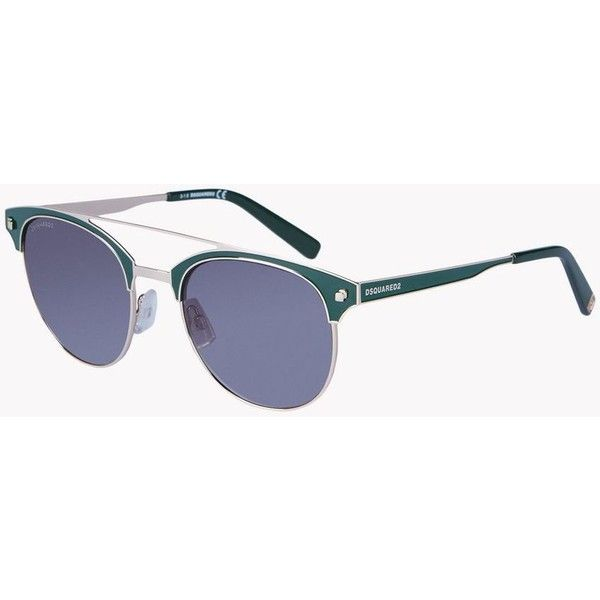 Dsquared2 Sunglasses (270 CAD) ❤ liked on Polyvore featuring men's fashion, men's accessories, men's eyewear, men's sunglasses, green and dsquared2