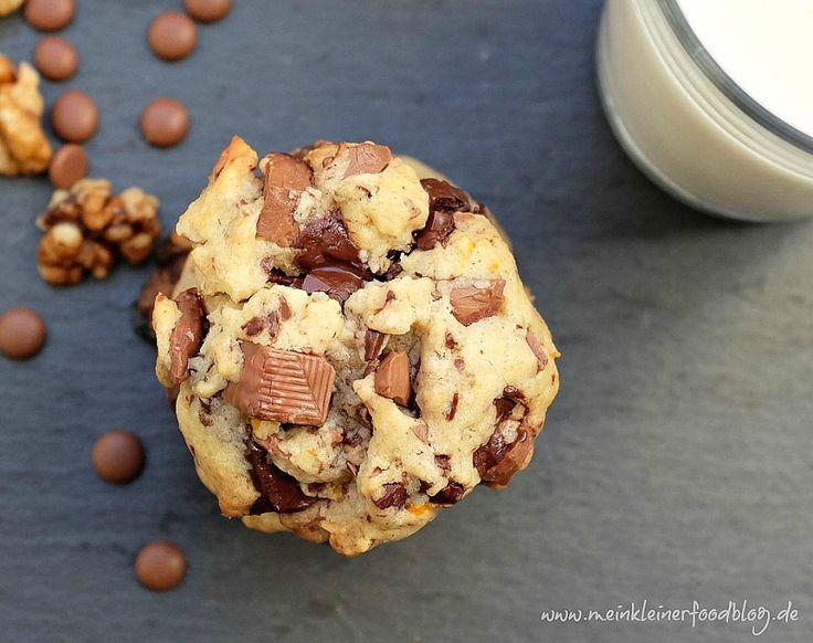 Orangen-Schoko-Cookies mit Walnüssen