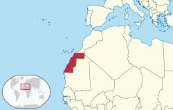 Sahrawi Arab Democratic Republic in its region (claimed).svg