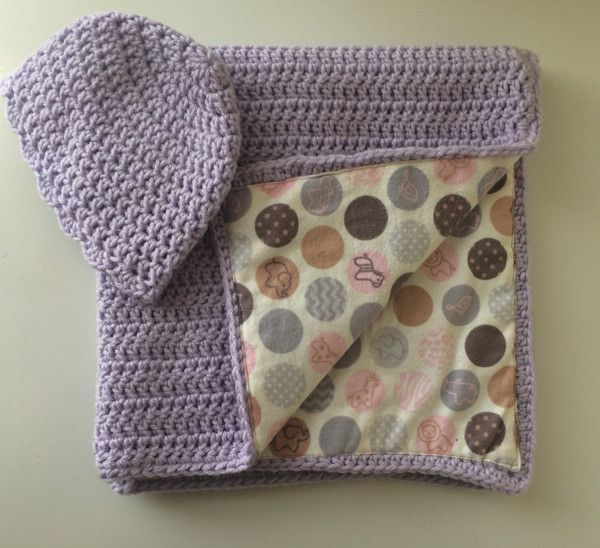 Purple Baby Basics Blanket - Crochet Fabric Lined – KARDS and Gifts