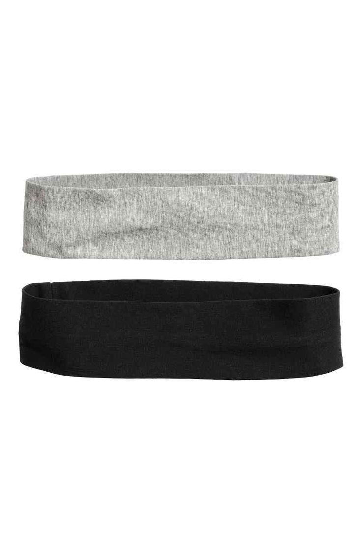 2-pak hårbånd - Sort/Hvid - DAME | H&M DK 1
