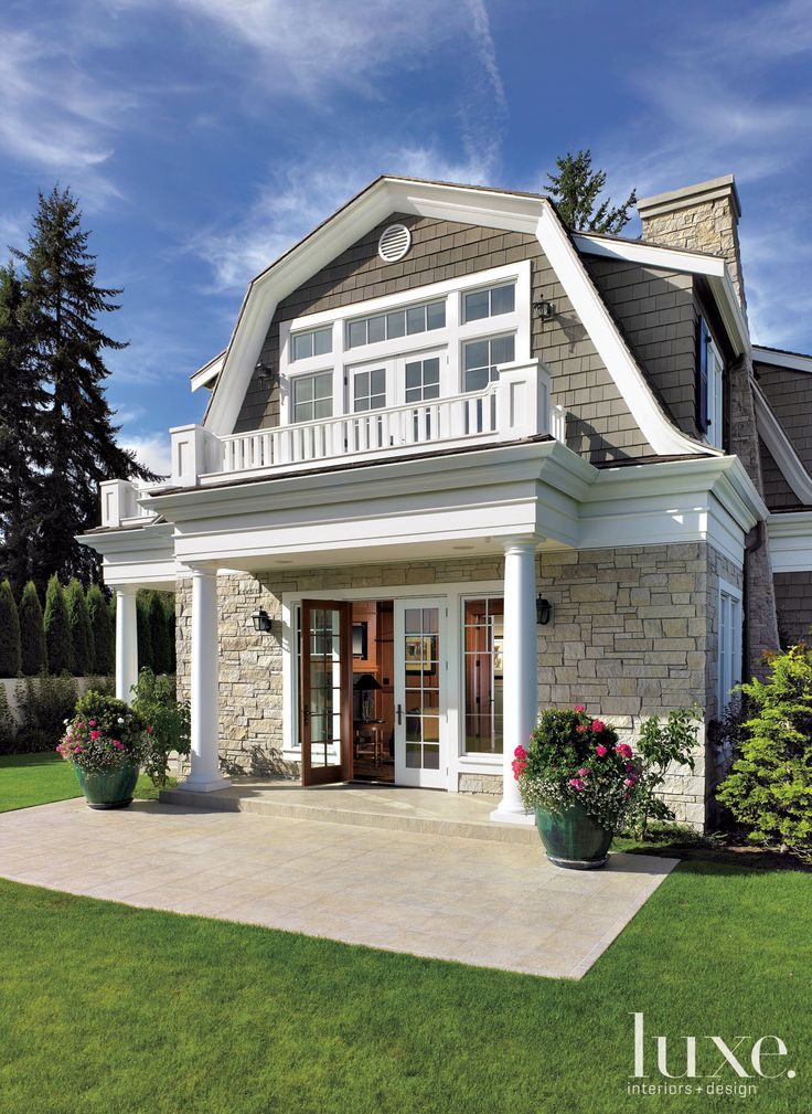 Balcony Dutch Colonial Roof Style Houses Pinterest