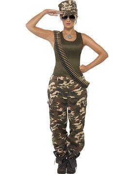 Disfraz Mujer Militar