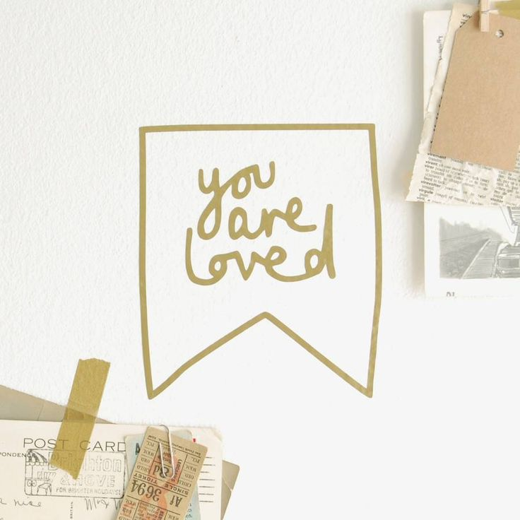'you are loved' wall or mirror sticker by kutuu lifestyle | notonthehighstreet.com