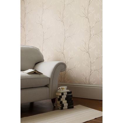 Laura Ashley Elwood Wallpaper - Dove Grey
