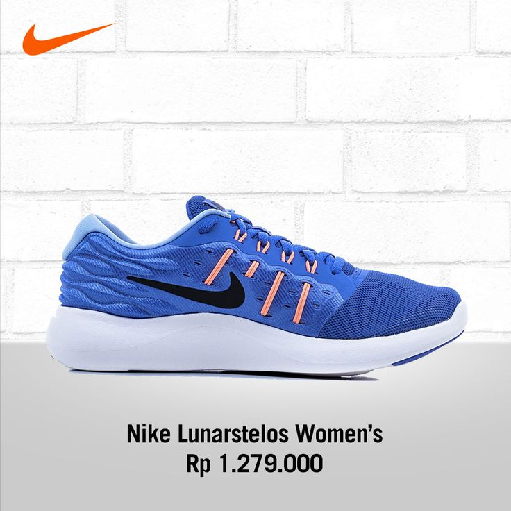 NIKE LUNARSTELOS Smooth Transition and Flexible stride. Women Nike LunarStelos running shoe is the definition of plush with 2 densities of soft foam underfoot to smooth out the transition. Hot knife cuts throughout the midsole add flexibility for equal pressure dispersal throughout your stride.