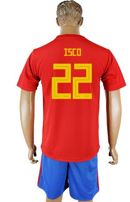 ba406ae36 2018 Spain World Cup Kit  22 isco