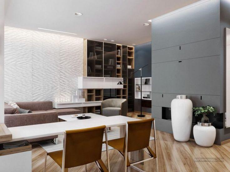 Modern otthon, érdekes és stílusos ötletek 125nm-en Modern - abgehängte decke wohnzimmer