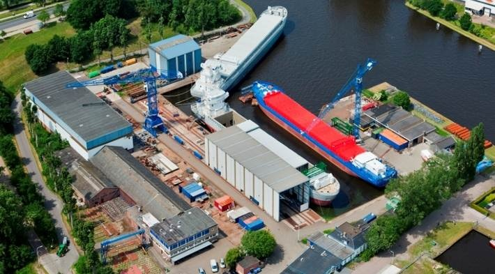 Damen Shipyards Bergum is located in the North of the Netherlands and is specialised in short and deep-sea cargo vessels, oil tankers, large tugs and offshore vessels. http://www.damen-bergum.nl/